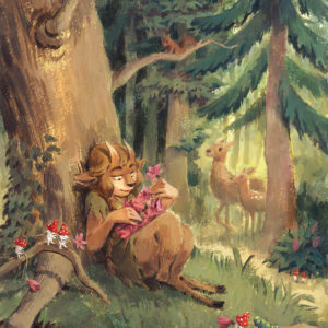 The Faun and the Flower Wreath
